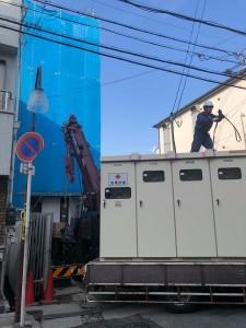 ビル高圧受電設備搬入10