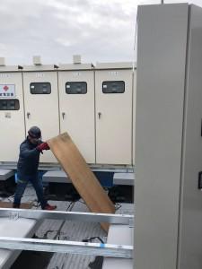 ビル高圧受電設備搬入3